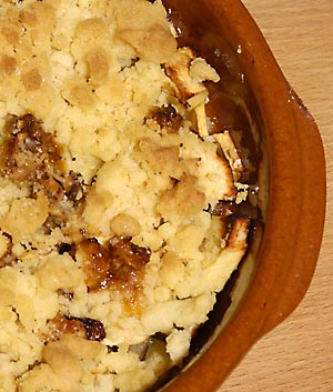 Apple Crumble mit Walnüssen