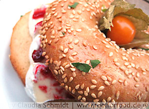 Bagel mit Camembert