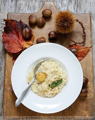 rezept mit bild f r marroni risotto mit gorgonzola. Black Bedroom Furniture Sets. Home Design Ideas