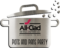 All-Clad-Logo zur Pots-and-Pans-Party