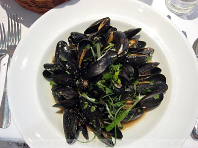 Stir-fried Mussels in Rick Steins Seafood Restaurant