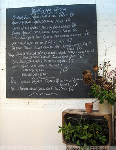 River Cottage Canteen Axminster Menu