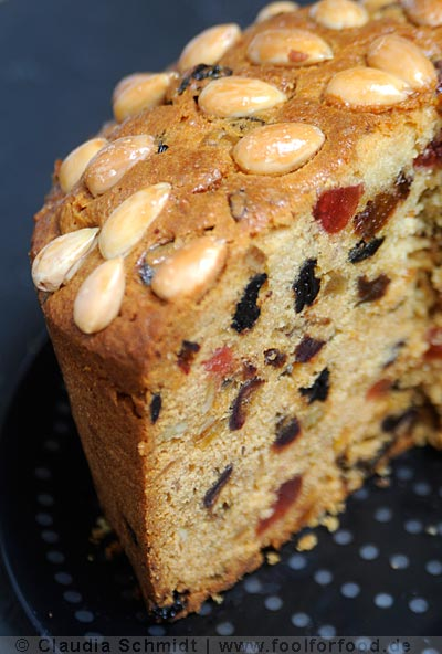 Dundee Cake - the first slice