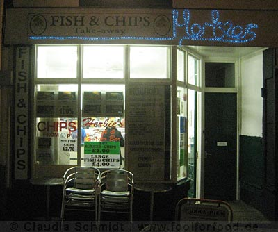 Herbie's Fish & Chips Shop in Penzance